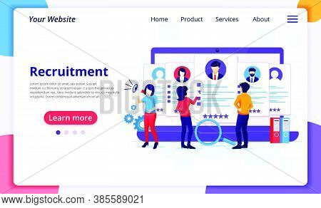 Online Recruitment Concept, People Searching The Best Candidate For A New Employee, Hiring And Recru