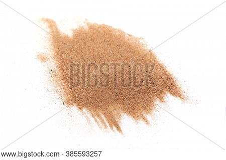 sand on the white background