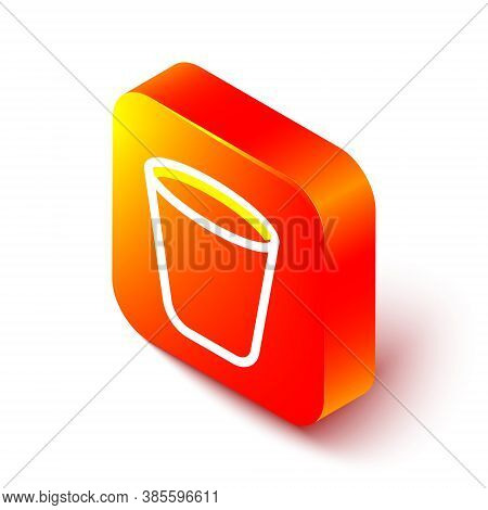 Isometric Line Trash Can Icon Isolated On White Background. Garbage Bin Sign. Recycle Basket Icon. O