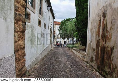 The Vintage Street In Coimbra City, Portugal