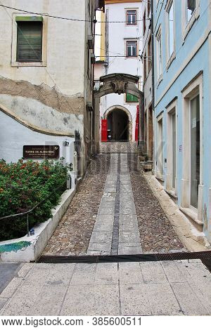 Coimbra / Portugal - 14 May 2015: The Vintage Street In Coimbra City, Portugal