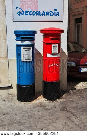 Coimbra / Portugal - 14 May 2015: The Mailboxes In Coimbra City, Portugal