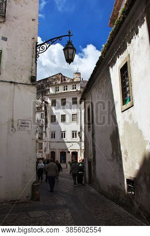 Coimbra / Portugal - 14 May 2015: The Lamp In Coimbra City, Portugal