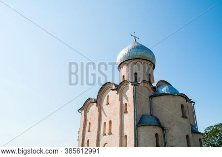 Veliky Novgorod, Russia. Saviour Church On Nereditsa, An Orthodox Church Built In 1198, One Of Russi