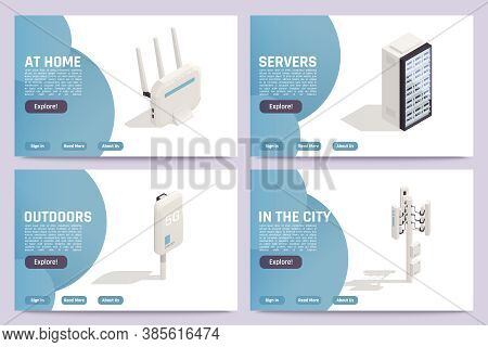 Home Internet Providers Outdoor Secure Network Access Wireless Routers Servers Accessoires 4 Isometr
