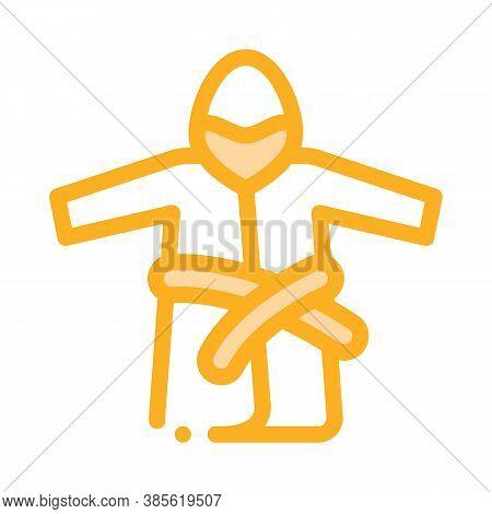 Bathrobe Clothes Icon Vector. Bathrobe Clothes Sign. Isolated Contour Symbol Illustration