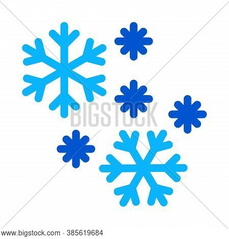 Snow Flakes Icon Vector. Snow Flakes Sign. Isolated Contour Symbol Illustration
