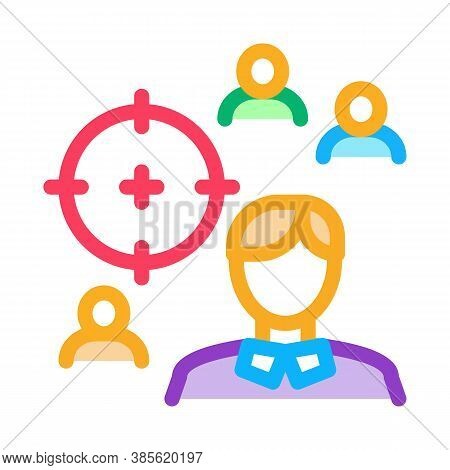 Manager Aim Target Icon Vector. Manager Aim Target Sign. Isolated Contour Symbol Illustration