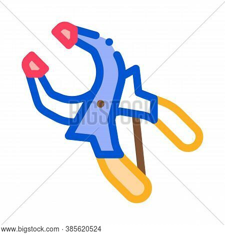 Clamp Worker Tool Icon Vector. Clamp Worker Tool Sign. Isolated Contour Symbol Illustration
