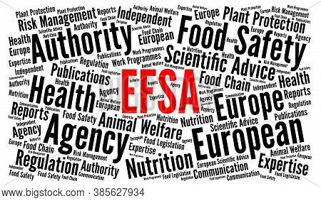Efsa, European Food Safety Authority Word Cloud Concept