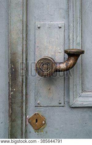 An Old Door Handle.
