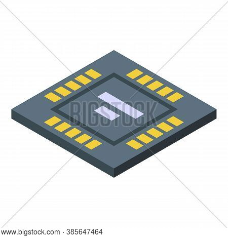 Gyroscope Processor Icon. Isometric Of Gyroscope Processor Vector Icon For Web Design Isolated On Wh