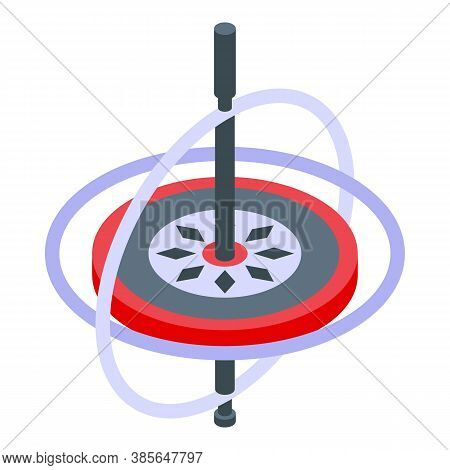 Aerospace Gyroscope Icon. Isometric Of Aerospace Gyroscope Vector Icon For Web Design Isolated On Wh