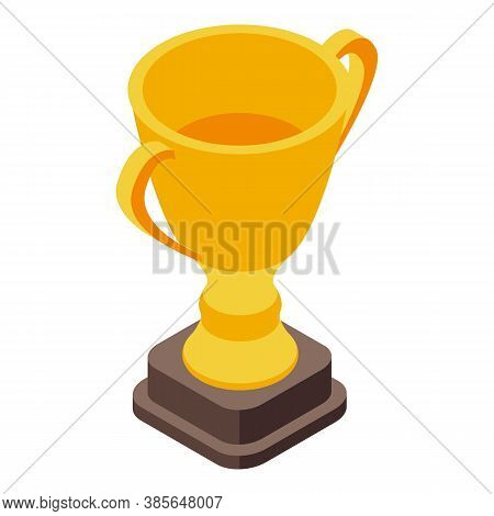 Quality Assurance Gold Cup Icon. Isometric Of Quality Assurance Gold Cup Vector Icon For Web Design