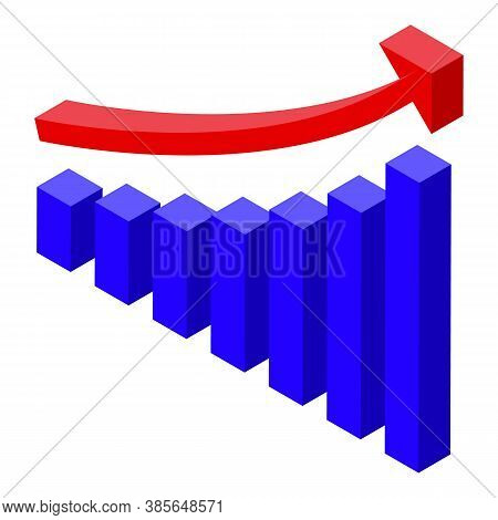 Quality Assurance Graph Chart Icon. Isometric Of Quality Assurance Graph Chart Vector Icon For Web D
