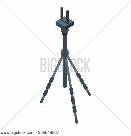 Tripod Instrument Icon. Isometric Of Tripod Instrument Vector Icon For Web Design Isolated On White