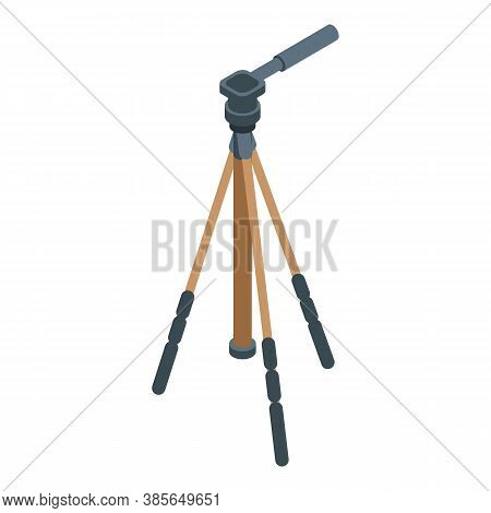 Video Tripod Icon. Isometric Of Video Tripod Vector Icon For Web Design Isolated On White Background