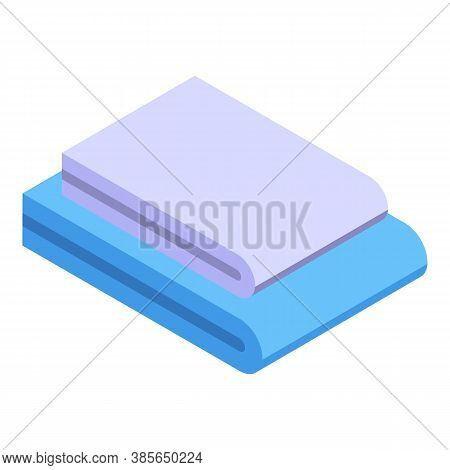 Washcloth Stack Icon. Isometric Of Washcloth Stack Vector Icon For Web Design Isolated On White Back