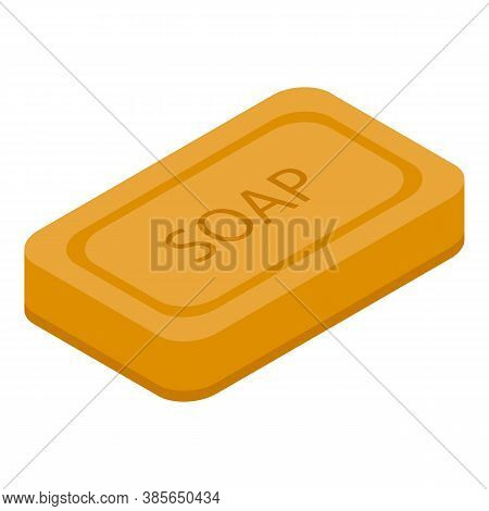 Washcloth Soap Icon. Isometric Of Washcloth Soap Vector Icon For Web Design Isolated On White Backgr