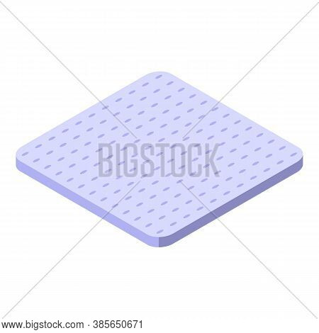 Soft Washcloth Icon. Isometric Of Soft Washcloth Vector Icon For Web Design Isolated On White Backgr