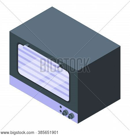 Oven Icon. Isometric Of Oven Vector Icon For Web Design Isolated On White Background