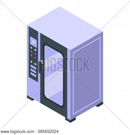 Convection Oven Wardrobe Icon. Isometric Of Convection Oven Wardrobe Vector Icon For Web Design Isol
