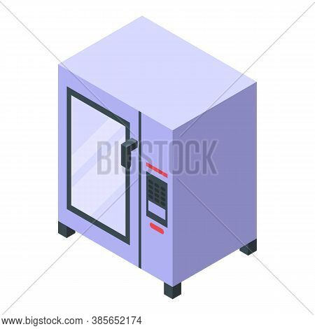 Convection Oven Gas Icon. Isometric Of Convection Oven Gas Vector Icon For Web Design Isolated On Wh