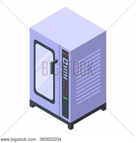 Convection Oven Temperature Icon. Isometric Of Convection Oven Temperature Vector Icon For Web Desig