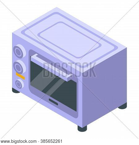 Convection Oven Grill Icon. Isometric Of Convection Oven Grill Vector Icon For Web Design Isolated O