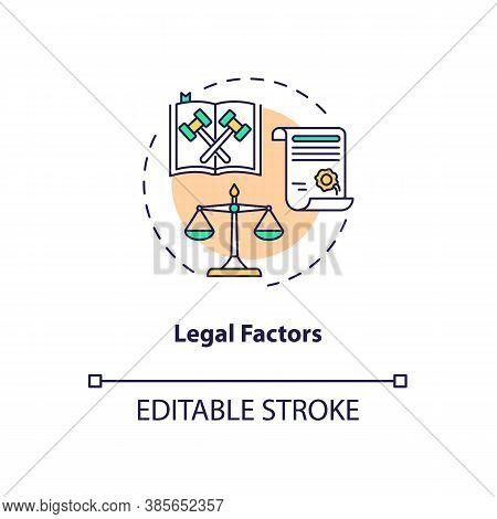 Legal Factors Concept Icon. Communication Life Saving Tips. Pestel Analysis. Business Target Idea Th