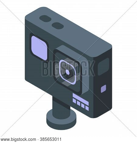 Waterproof Action Camera Icon. Isometric Of Waterproof Action Camera Vector Icon For Web Design Isol