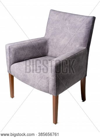 Modern Classic Arm Chair Isolated On White