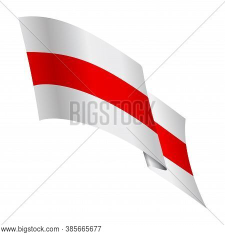 Historical Flag Of Belarus And A Symbol Of Protest Against The Dictatorship