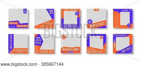 Post Layout Template. Editable Post Template Social Media Banners For Digital Marketing. Promotion B