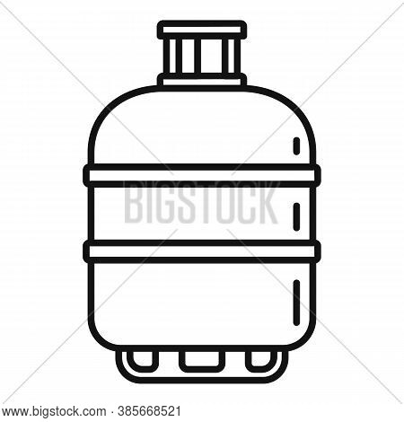 Gas Cylinder Butane Icon. Outline Gas Cylinder Butane Vector Icon For Web Design Isolated On White B