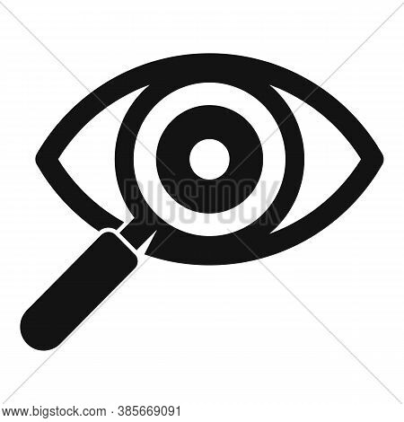 Search Eye Exploration Icon. Simple Illustration Of Search Eye Exploration Vector Icon For Web Desig