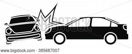 Car Accident, Crash. Collision Of Cars On Road, Side Impact At An Intersection. Accidents On Road. L