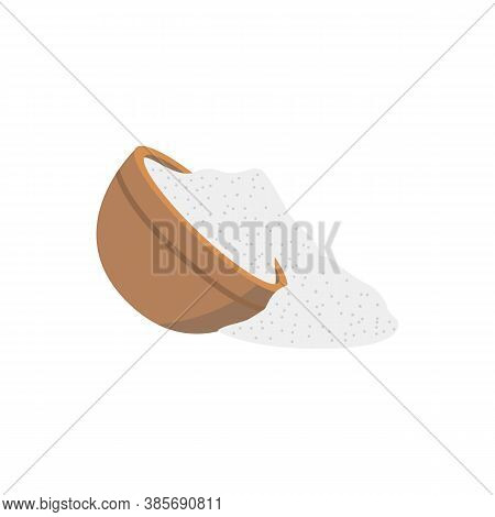 Spilled Salt A Symbol Of Bad Luck And Misfortune Vector Illustration Isolated.