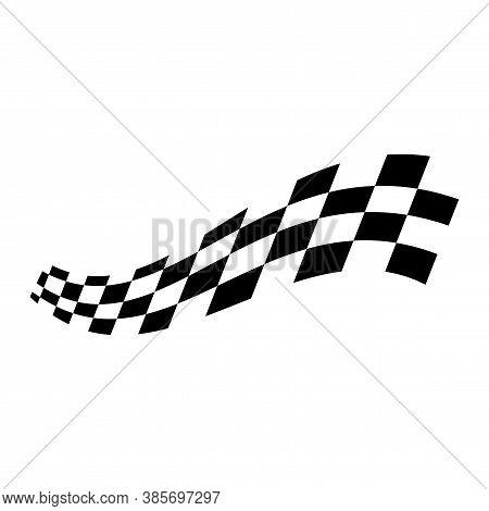 Race Flag Illustration, Race Flag Design Vector Illustration