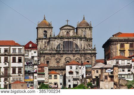 Porto / Portugal - 12 May 2015: The View On Roofs Of Vintage Houses In Porto City, Portugal
