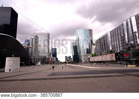Paris, France - July 03 2020 : La Defense Paris, Parisian Business Center