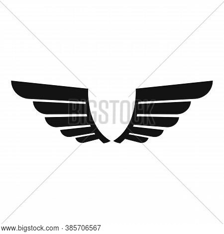 Insignia Wings Icon. Simple Illustration Of Insignia Wings Vector Icon For Web Design Isolated On Wh