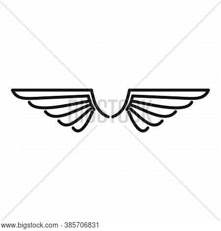 Phoenix Wings Icon. Outline Phoenix Wings Vector Icon For Web Design Isolated On White Background