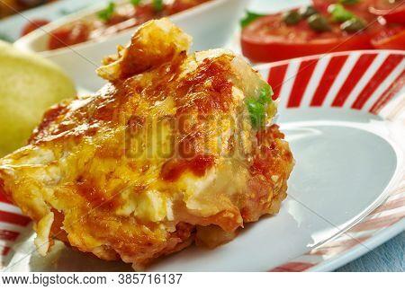 Sicilian Gatto' Di Patate Con Ragu