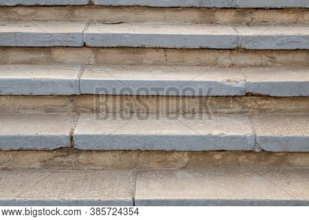 Stone Stairs Background. Staircase On The Street. Stairs Background.