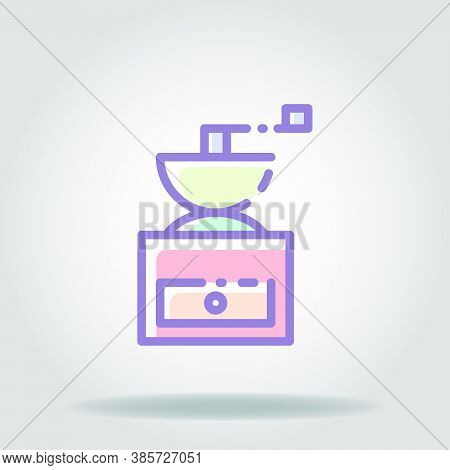 Grinder Icon Or Logo In  Pastel Color 2
