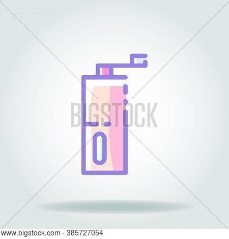 Grinder Icon Or Logo In  Pastel Color