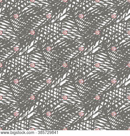 Vector Weave Effect Seamless Interlace Pattern Background. Woven Brown Burlap Lattice Dense Texture