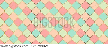 Ramadan Kareem Islamic Decoration. Seamless Moroccan Design Moroccan Seamless Mosaic Ornament. Eid M