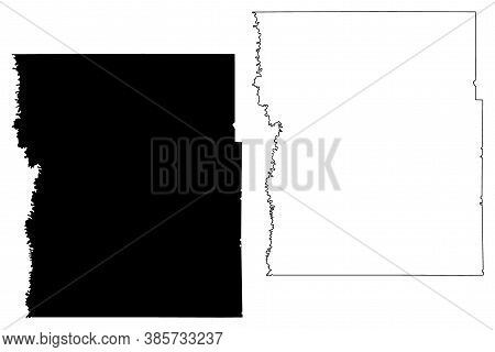 Clay County,  Minnesota (u.s. County, United States Of America, Usa, U.s., Us) Map Vector Illustrati